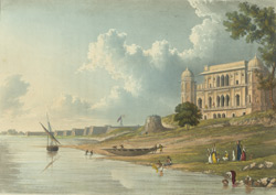 Raj Ghaut and the Fort of Allahabad, at the Confluence of the Great Rivers